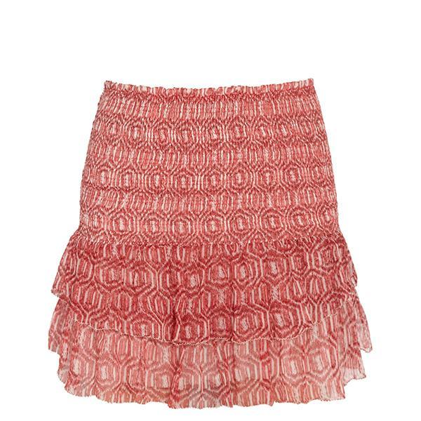 Etoile Isabel Marant Zelia Printed Silk-Chiffon Mini Skirt