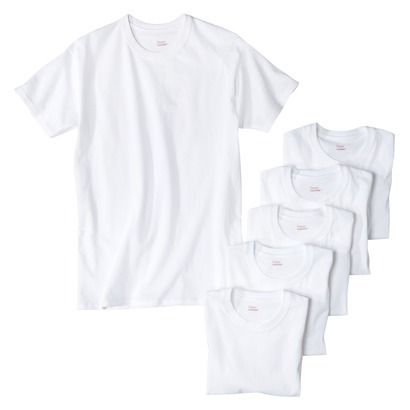 Hanes Men's 6pk Crew Neck T-Shirts