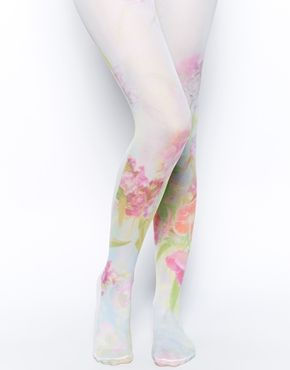 ASOS Floral Cluster Print Tights