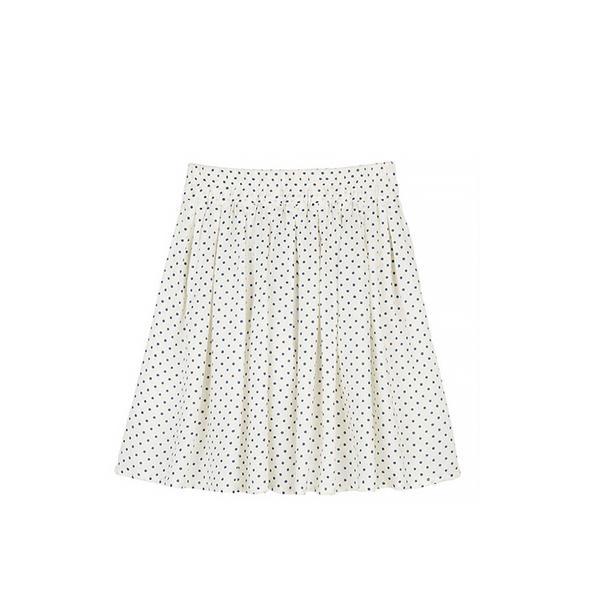 Delia's Pin Dot Challis Skater Skirt
