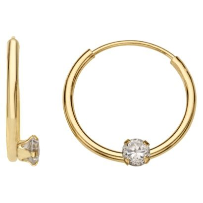 Target 14K Yellow Gold Hoop Earrings