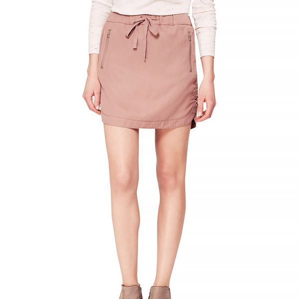 Lou & Grey Silky Washed Sportif Mini Skirt