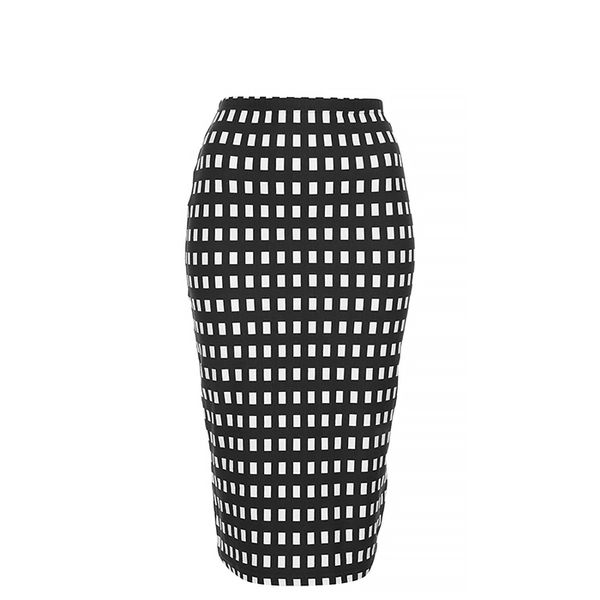 Topshop Gingham Tube Skirt