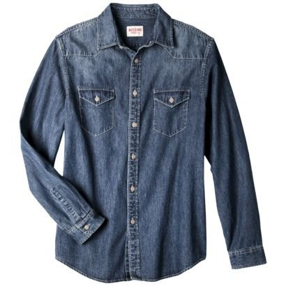 Mossimo Supply Co. Men's Long Sleeve Denim Shirt