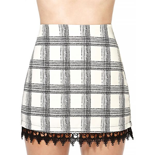 Nasty Gal Draw the Line Skirt