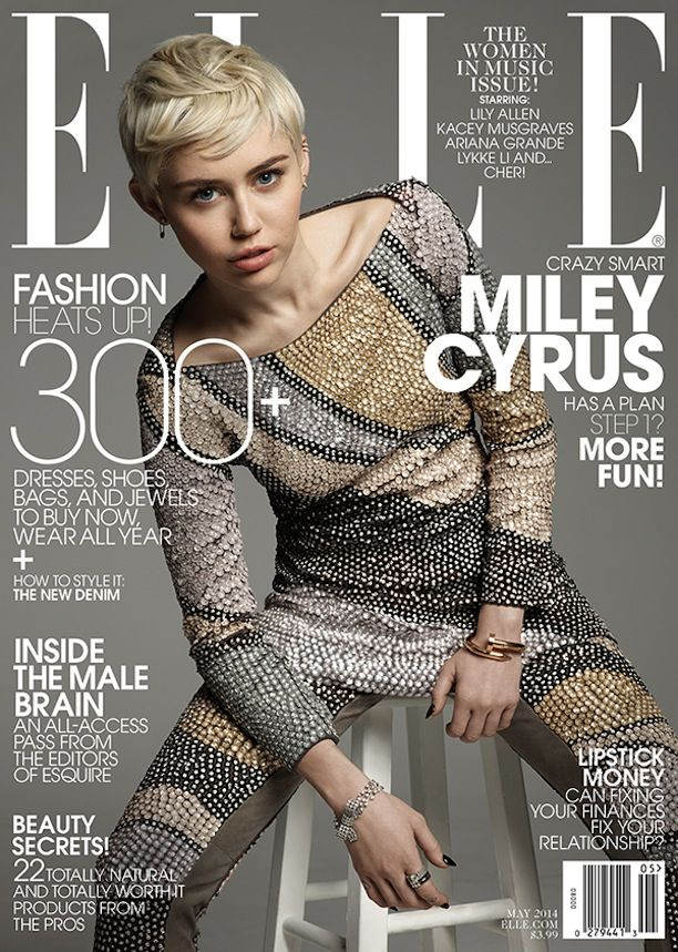 Miley Cyrus' ELLE Magazine May Cover Shoot