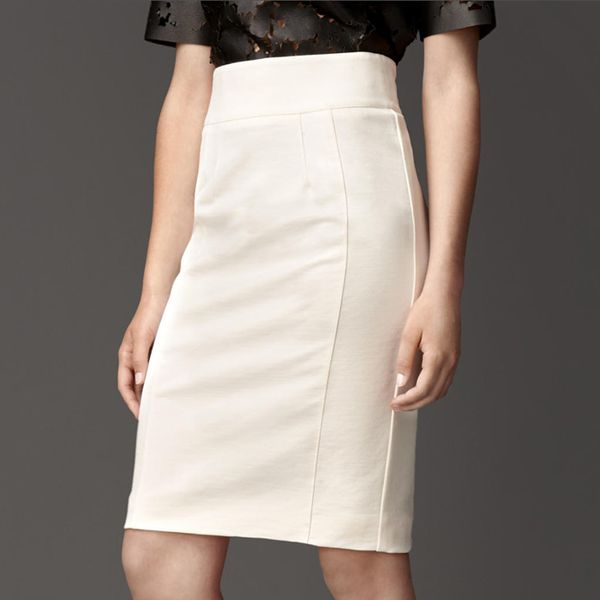 Burberry Prorsum Compact Jersey High-Waist Pencil Skirt