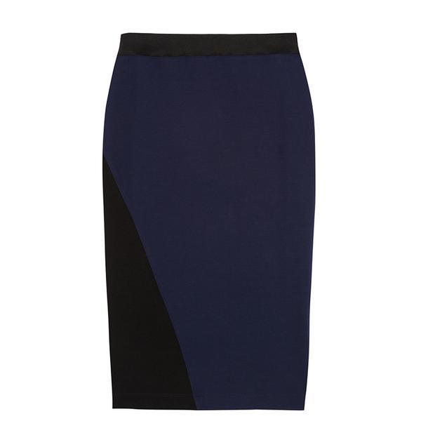 Dagmar Roxanne Two-Tone Jersey Skirt