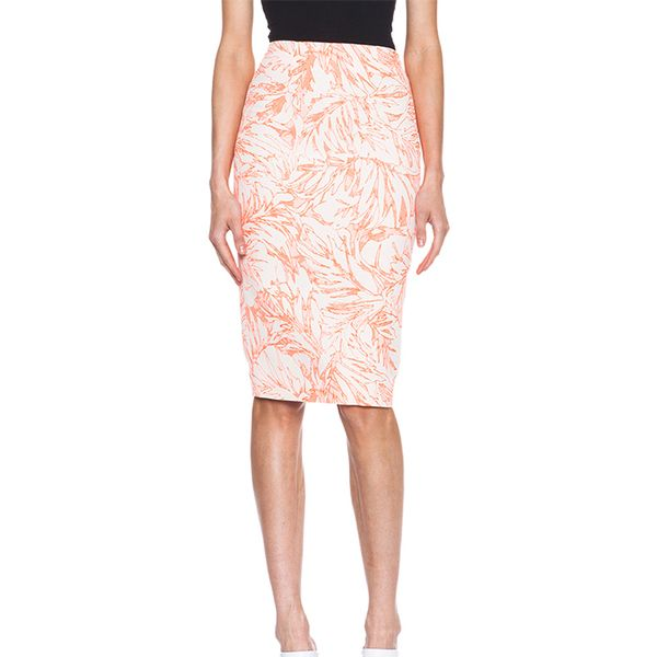 Matthew Williamson Botanical Tailoring Cotton-Blend Skirt