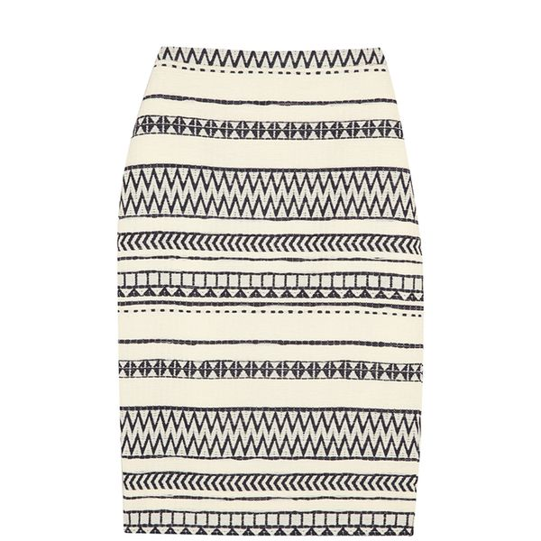 J. Crew Collection Faux Raffia Pencil Skirt