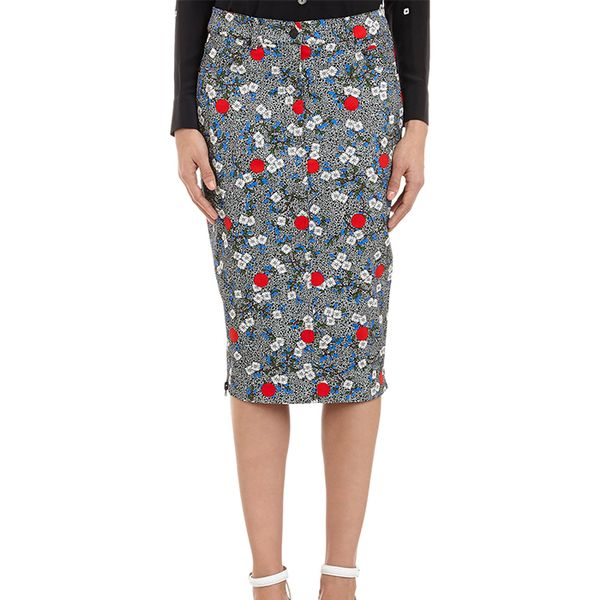 Opening Ceremony Wood-Print Denim Skirt