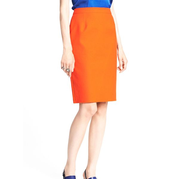 Lanvin Cotton Piqué Pencil Skirt