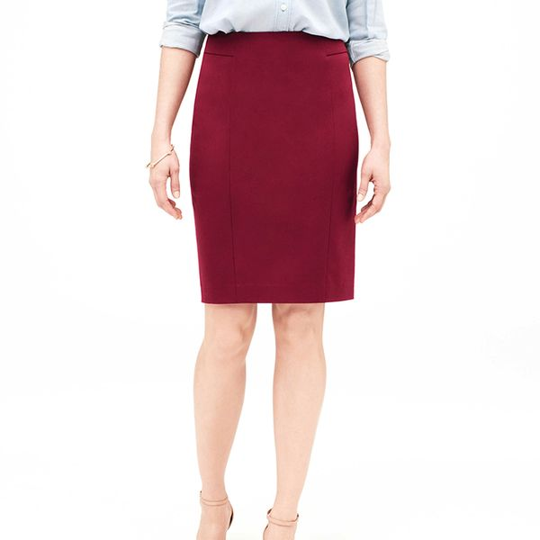 LOFT Bi-Stretch Seamed Pencil Skirt