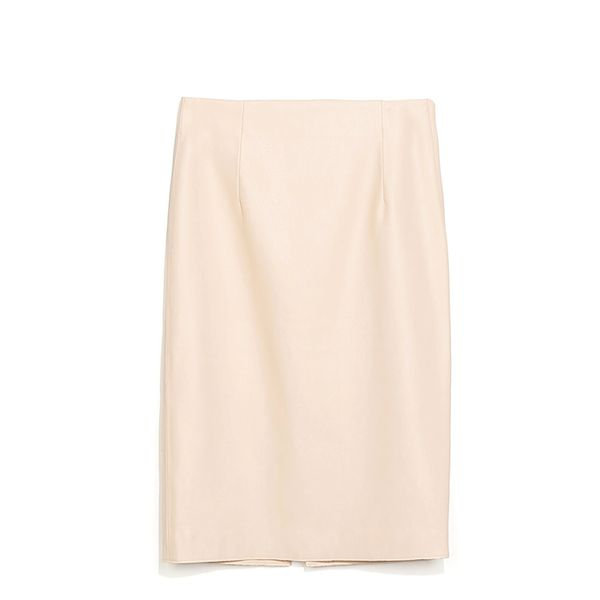 Zara Faux Leather Tube Skirt