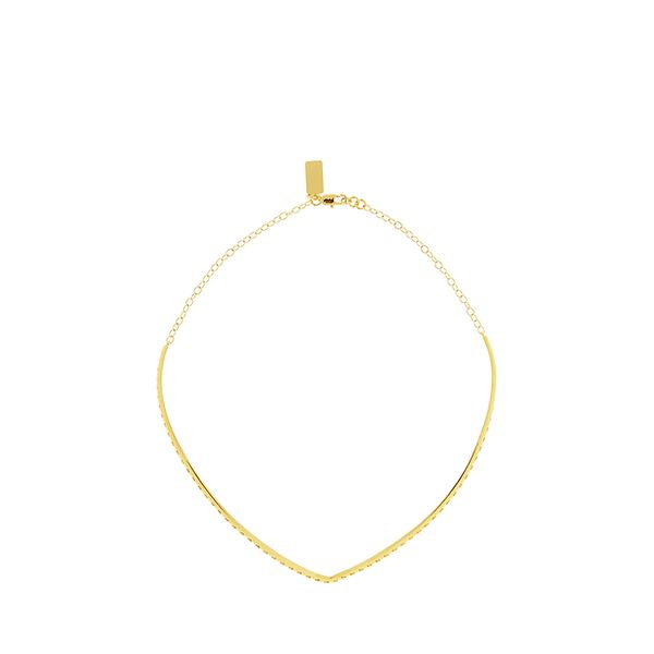 Arme De L'Amour Gold-Plated Chevron Necklace