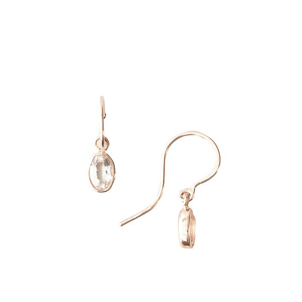 Blanca Monros Gomez Oval Droplet Earrings