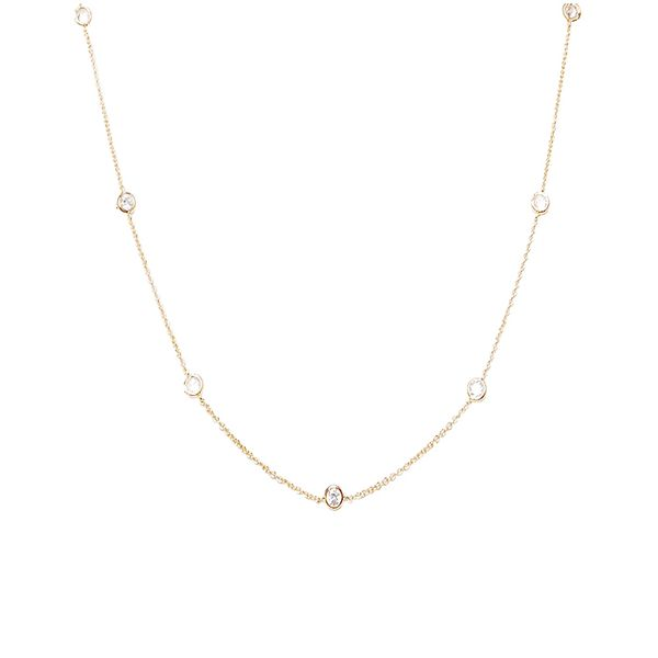 Humble Chic Floating Diamonds Necklace