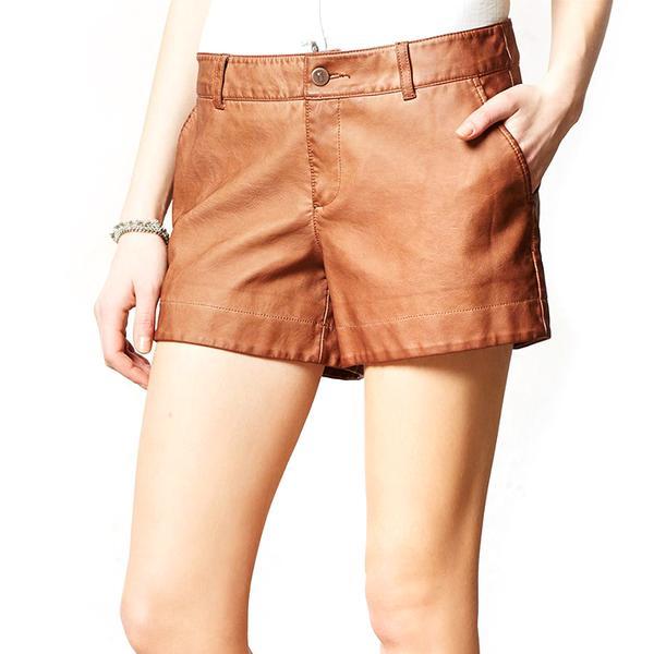 Anthropologie Pilcro Vegan Leather Shorts