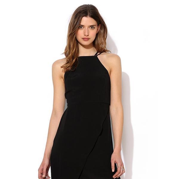 Tela High-Neck Strappy-Back Tank Dress