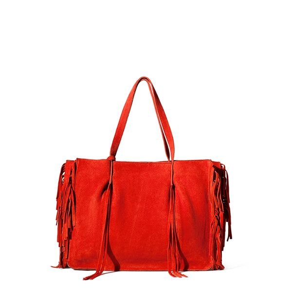 Zara Fringed Leather Shopper