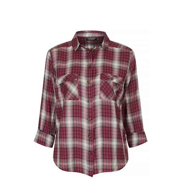 Topshop Topshop Long Sleeve Check Shirt