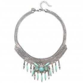 Capwell + Co Mint and Moonstone Navette Drop Necklace