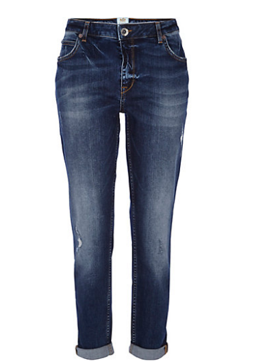 River Island Dark Wash Ashley Slim Boyfriend Jeans