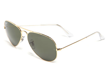 Ray-Ban Original Aviator 58mm Polarized Sunglasses