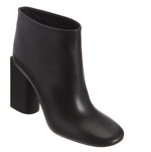 Rochas Laquered Heel Ankle Boot