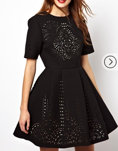 ASOS Extreme Dress With Laser Cut Outs