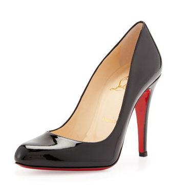 Christian Louboutin Decollette Patent Red Sole Pumps