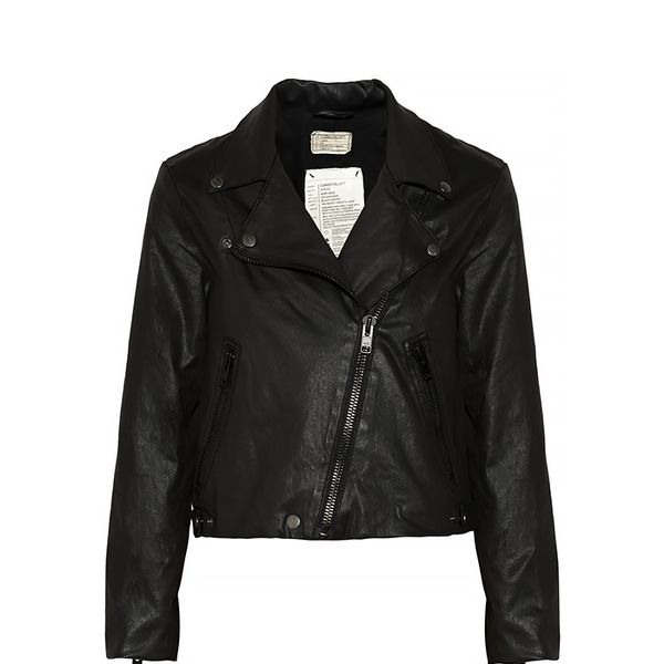 Current/Elliott The Soho Coated Cotton-Blend Biker Jacket