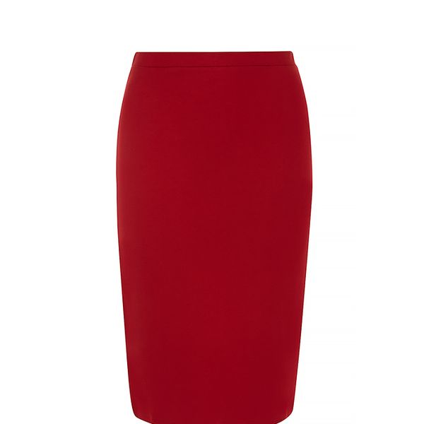 Dorothy Perkins Cherry Ponte Pencil Skirt
