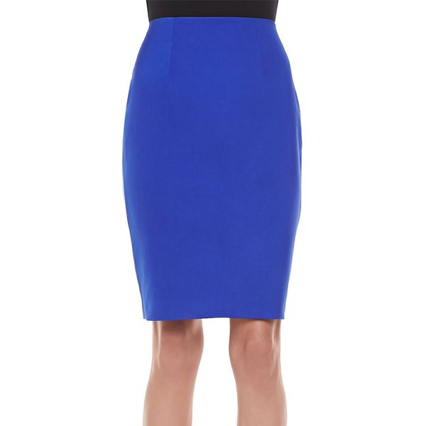 Cameo Pink Matter Pencil Skirt