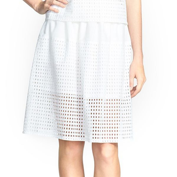Chelsea28 Eyelet Cotton Full Skirt
