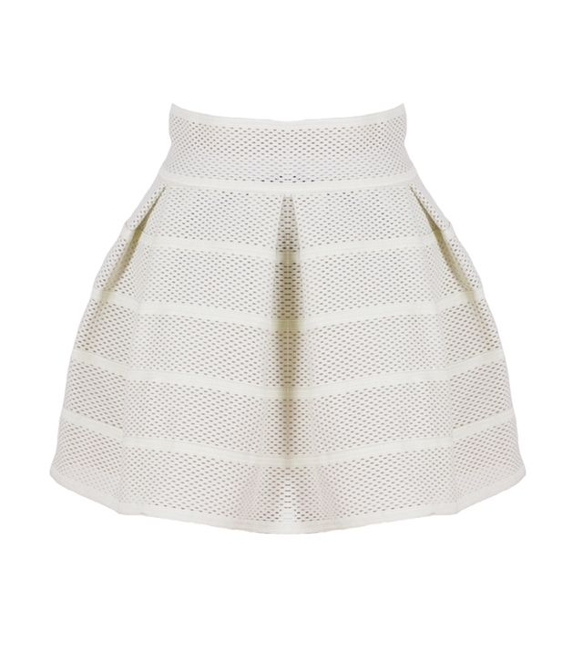We're all about this skirt's structured silhouette and on-trend sporty vibe.