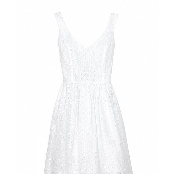 Amour Vert Organic Cotton Eyelet Dress