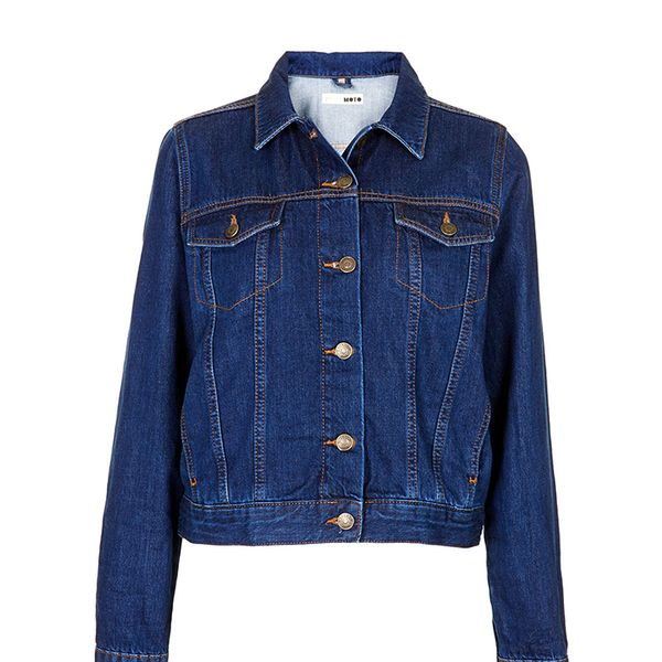Topshop Moto Fitted Western Jacket