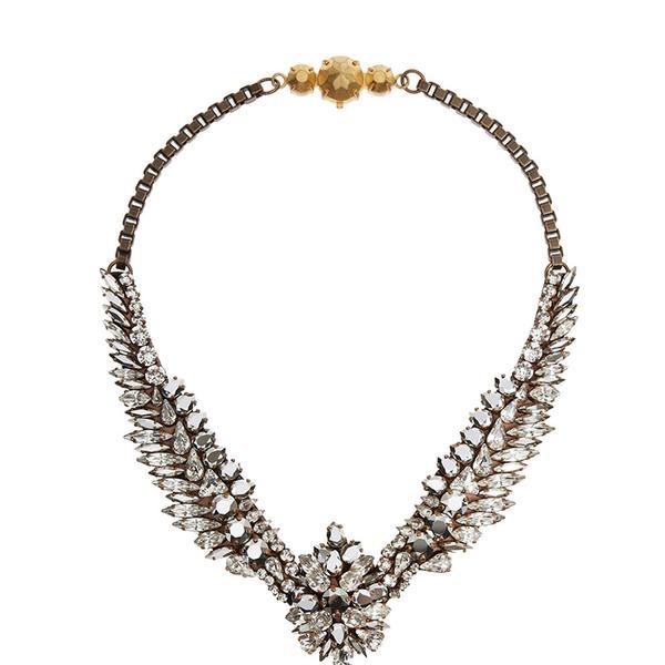 Shourouk Tabatha Comet Gold-Tone Swarovski Crystal Necklace