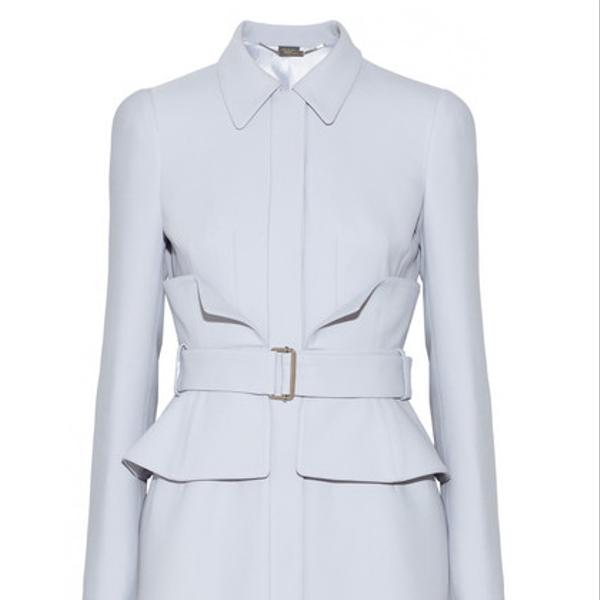 Alexander McQueen Belted Crepe Coat