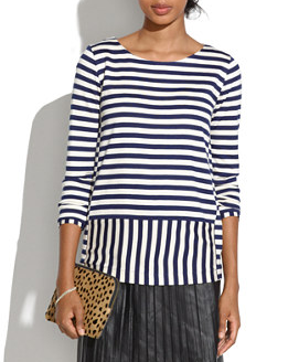 Madewell Stripeturn Ponte Top