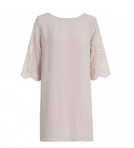 Zimmermann Crepe Lace Shift Dress