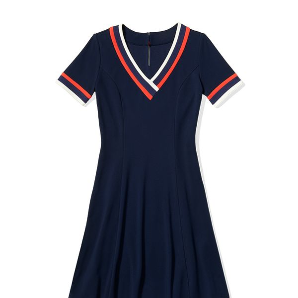 To Tommy From Zooey Short-Sleeved V-Neck Dress