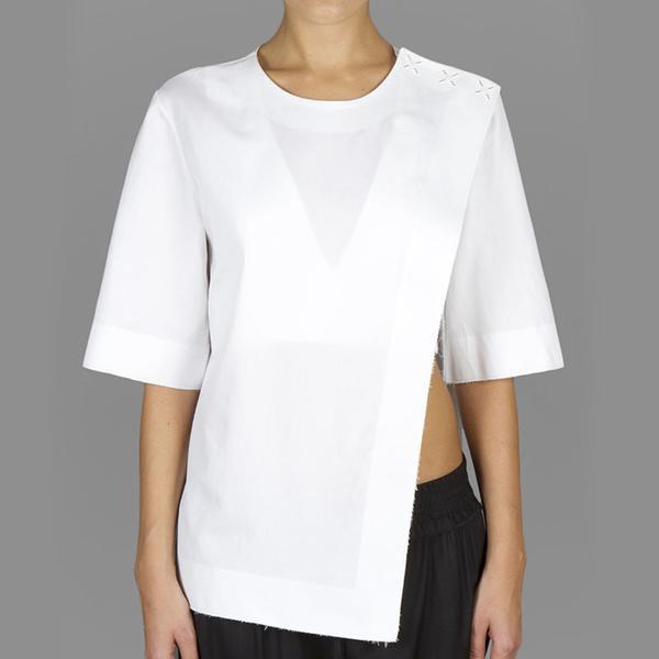 Alexander Wang Asymmetric X-Snap T-Shirt