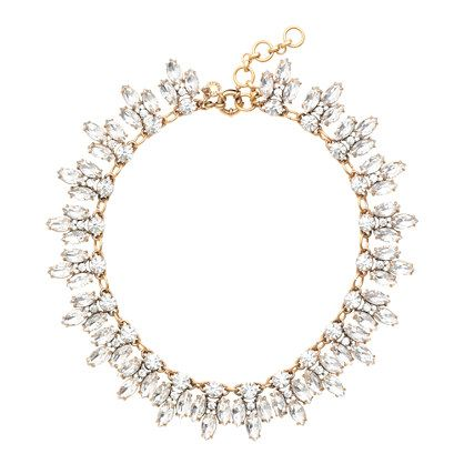 J.Crew Crystal Leaves Necklace