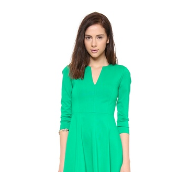 4. Collective Split Neck Flirty Dress