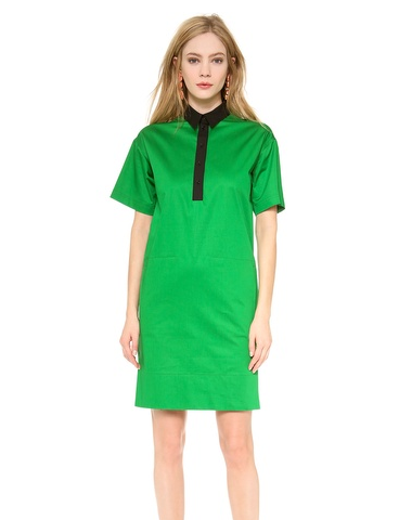 Cedric Charlier Short Sleeve Shirtdress
