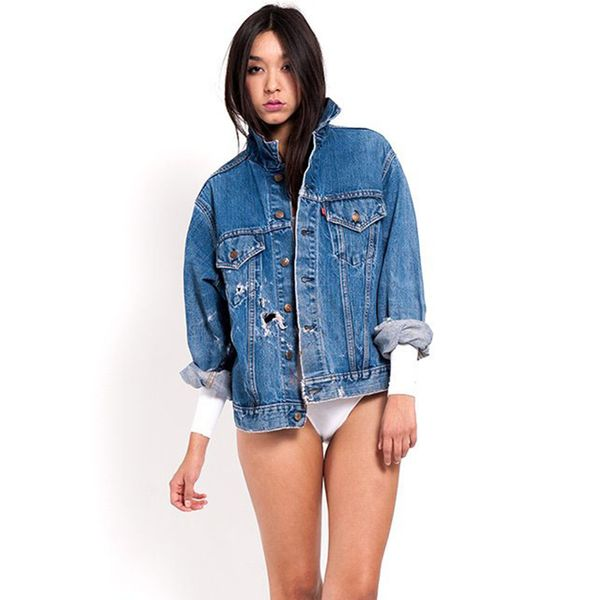Denim Refinery Grainy Grunge Hole-y Levi's Jean Jacket