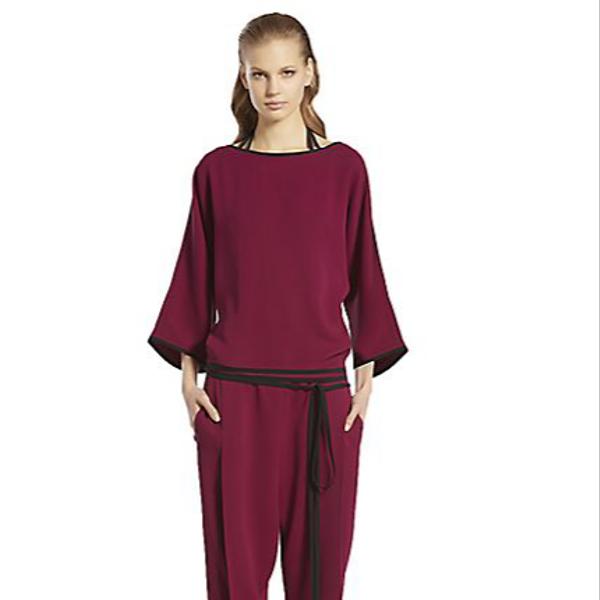 Gucci Kimono Silk Cady Jumpsuit