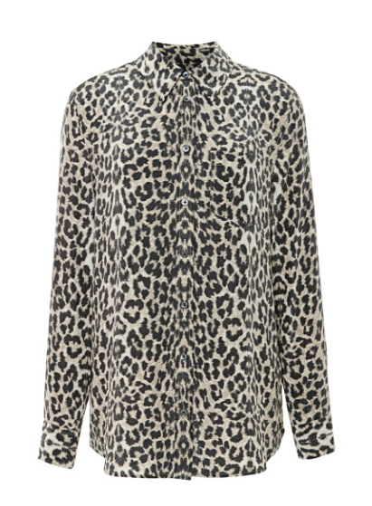 Equipment Reese Leopard Print Shirt